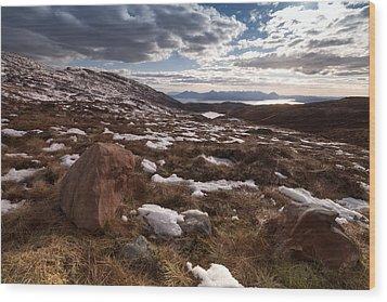 Applecross Pass Wood Print by Karl Normington