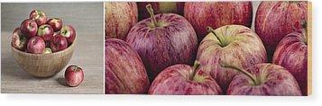 Apples 01 Wood Print by Nailia Schwarz