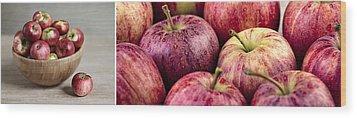 Apples 02 Wood Print by Nailia Schwarz