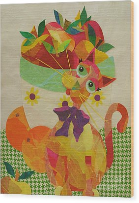 Apples And Jackie Wood Print