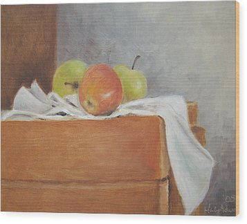 Apples Wood Print by Mary Adam