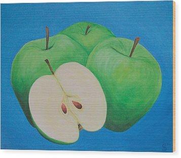 Apples Wood Print by Sven Fischer