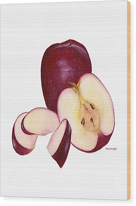 Wood Print featuring the painting Apples To Apples by Nan Wright