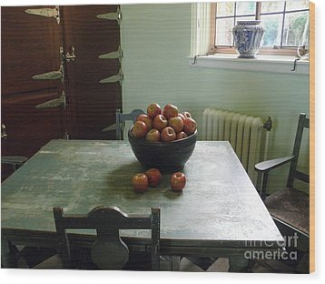 Apples Wood Print by Valerie Reeves