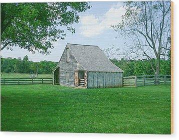 Appomattox Barn Wood Print