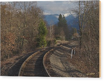 Approaching Grants Pass 1 Wood Print by Mick Anderson