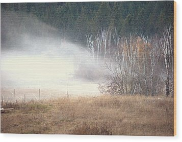 Wood Print featuring the photograph Approaching Mist by Michael Dohnalek