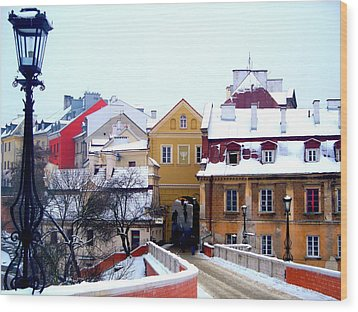 Approaching Old City Wall / Lublin Poland  Wood Print by Rick Todaro