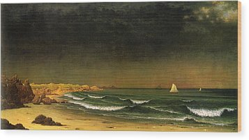 Approaching Storm Near Newport Beach Wood Print by Martin Heade