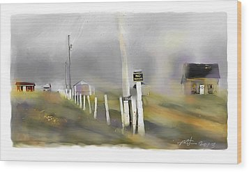 Approaching Storm Northwest Cape P.e.i Wood Print by Bob Salo