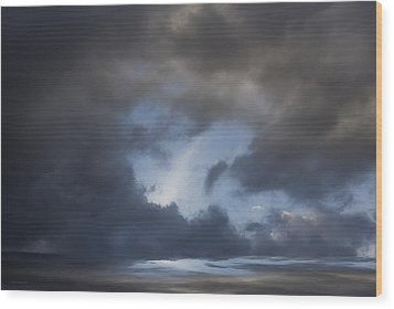 Approaching Storm Wood Print by Ron Jones