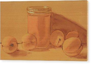 Apricot Preserves Wood Print