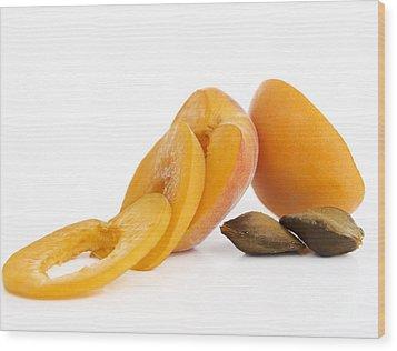 Apricots Wood Print by Bernard Jaubert