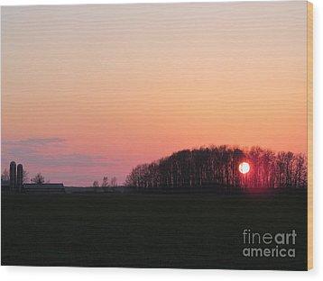 April 24 2013 Sunset Wood Print