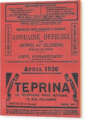 April In Paris 1936 Wood Print