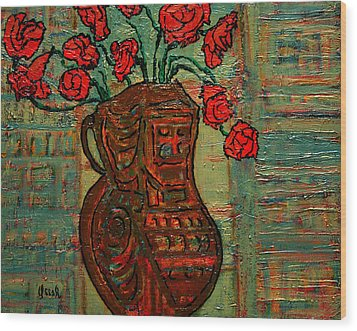 April  Wood Print by Oscar Penalber