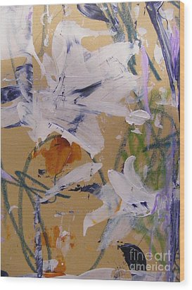 Wood Print featuring the painting April Showers 1 by Nancy Kane Chapman