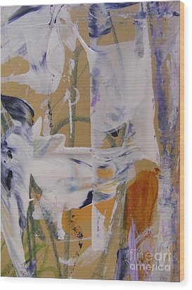 Wood Print featuring the painting April Showers 2 by Nancy Kane Chapman