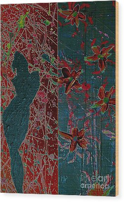 April Showers/ May Flowers Wood Print by Jacqueline McReynolds