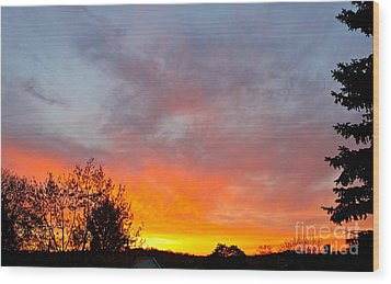 April Sunrise Wood Print