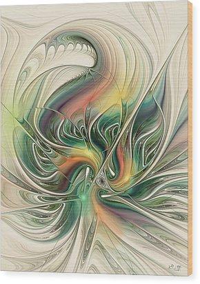 April's Temper Wood Print by Kim Redd