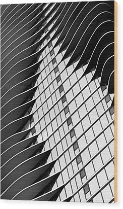 Aqua #1 Wood Print