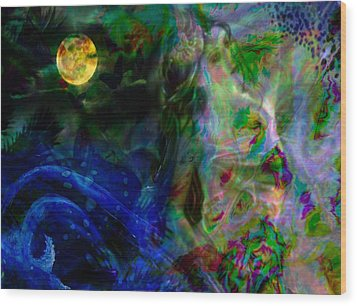 Aqua Lover Wood Print