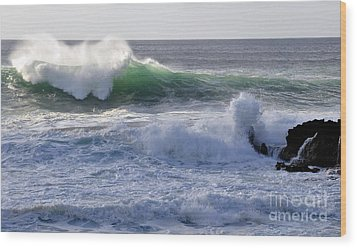 Wood Print featuring the photograph Aqua Mist by Gina Savage