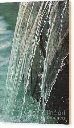 Aqua Opaque Wood Print by Michael Hoard