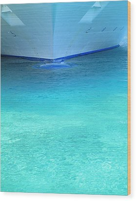 Aqua Wood Print by Randall Weidner