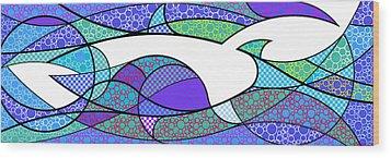 Aqua Seltzer Wood Print
