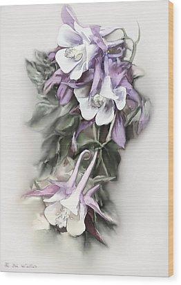 Aqualigia Cascade Wood Print