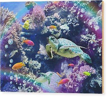 Aquarium Wood Print by Alixandra Mullins