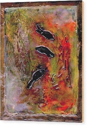 Aquarium Encaustic Wood Print by Bellesouth Studio