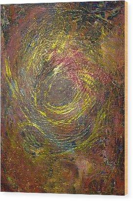 Aquarius Super Moon Wood Print by Karen Lillard