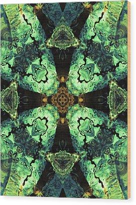 Aquatic Lace 10 Wood Print by Shawna Rowe