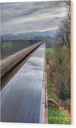 Aqueduct Wood Print by Adrian Evans