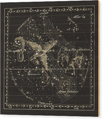 Aqulia Constellations, 1829 Wood Print by Science Photo Library