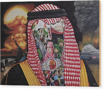 Arab Revolution Wood Print