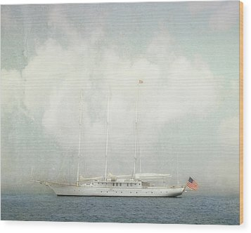 Wood Print featuring the photograph Arabella On Newport Harbor by Karen Lynch