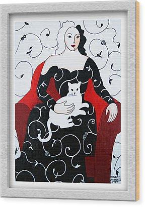 Arabesque Wood Print by Eve Riser Roberts
