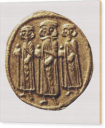Arabian-byzantine Coin. Coin. France Wood Print by Everett
