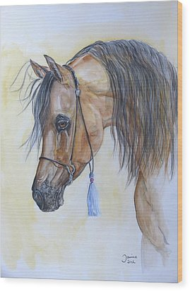 Arabian Head Wood Print by Janina  Suuronen