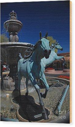 Arabian Horse Sculpture Wood Print