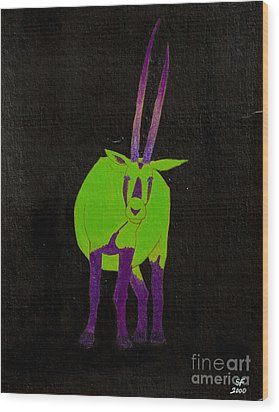 Arabian Oryx Wood Print