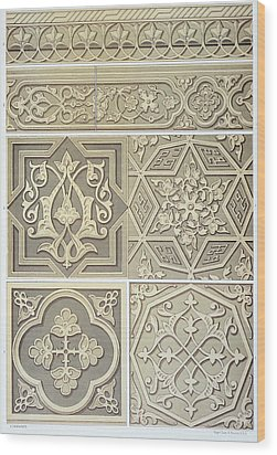Arabic Tile Designs  Wood Print by Anonymous