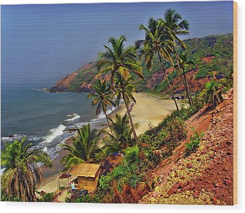 Arambol Beach India Wood Print
