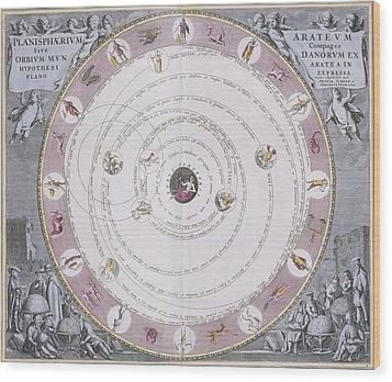 Aratus Planisphere, 1708 Wood Print by Science Photo Library
