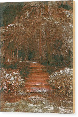 Arbor Steps Wood Print by Tim Allen