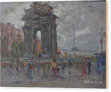 Arc De Triomphe. Moscow Wood Print by Ilya  Izyumov